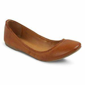 Mossimo 9.5 Ballet Flats Brown Ona Scrunch Womens